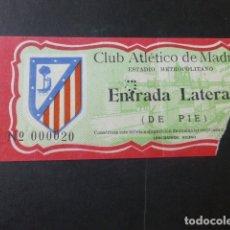 Coleccionismo deportivo: ENTRADA DE FUTBOL CLUB ATLETICO DE MADRID ESTADIO METROPOLITANO ENTRADA LATERAL DE PIE. Lote 178390547