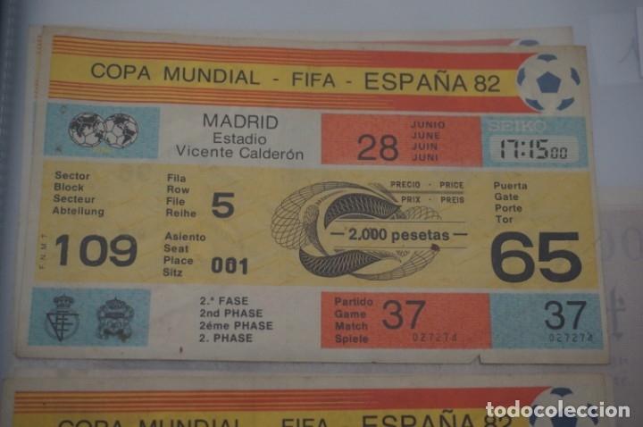 ENTRADA COPA MUNDIAL FIFA ESPAÑA 82 SIN CORTAR / VICENTE CALDERON 28 JUNIO / 2º FASE (Coleccionismo Deportivo - Documentos de Deportes - Entradas de Fútbol)