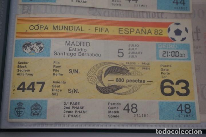 ENTRADA COPA MUNDIAL FIFA ESPAÑA 82 SIN CORTAR / SANTIAGO BERNABEU 5 JULIO / 2º FASE (Coleccionismo Deportivo - Documentos de Deportes - Entradas de Fútbol)