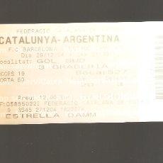 Coleccionismo deportivo: 1 ENTRADA CATALUNYA - ARGENTINA 29-04-2004. Lote 178670026
