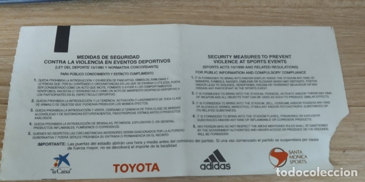 Coleccionismo deportivo: ENTRADA ESPAÑA IRLANDA DEL NORTE VII CAMPEONATO DE EUROPA FEMENINO ARANDA DE DUERO - Foto 2 - 180253118