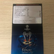 Coleccionismo deportivo: REAL MADRID ATLETICO MADRID FINAL CHAMPIONS LEAGUE 2014 ENTRADA. Lote 180337458
