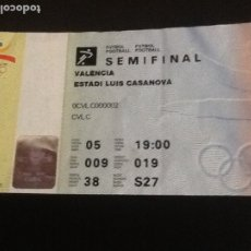 Coleccionismo deportivo: ENTRADA SEMIFINAL FUTBOL OLIMPIADAS 1992. ESTADIO LUIS CASANOVA. ESPAÑA-GHANA. Lote 181021407