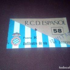Colecionismo desportivo: ESPAÑOL. ENTRADA. ANFITEATRO. INVITADO. Lote 181087362