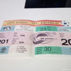 Coleccionismo deportivo: ENTRADA PARTIDO DE FUTBOL, MUNDIAL ESPAÑA 82. ESTADIO BENITO VILLAMARIN. Lote 181218311