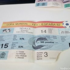 Coleccionismo deportivo: ENTRADA PARTIDO DE FUTBOL, MUNDIAL ESPAÑA 82. ESTADIO SANCHEZ PIZJUAN. Lote 181218711