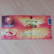 Coleccionismo deportivo: ENTRADA EURO 2004 ESPAÑA-PORTUGAL. Lote 182197840