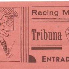 Coleccionismo deportivo: (F-191100F)ENTRADA RACING C.F. TEMPORADA 1944-45. Lote 183385025