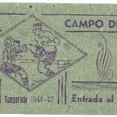 Coleccionismo deportivo: (F-191100G)ENTRADA REAL MADRID C.DE F. CAMPO DE CHAMARTIN TEMPORADA 1944-45. Lote 183385176