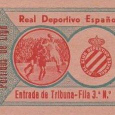 Coleccionismo deportivo: (F-191100I)ENTRADA REAL CLUB DEPORTIVO ESPAÑOL - TEMPORADA 1944-45. Lote 183385453