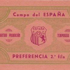 Coleccionismo deportivo: (F-191100N)ENTRADA ESPAÑA F.C. - TEMPORADA 1944-45. Lote 183386277