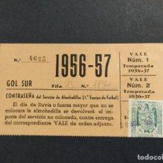 Coleccionismo deportivo: CLUB DE FUTBOL BARCELONA-CARNET ALMOHADILLA-TEMPORADA 1956 1957-FC BARÇA-VER FOTOS-(64.409). Lote 183433027