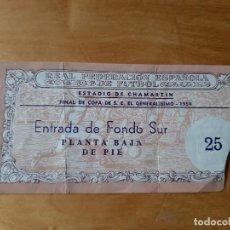 Coleccionismo deportivo: FINAL COPA DEL GENERALISIMO 1954 -VALENCIA-FC BARCELONA -ESTADIO CHAMARTIN - 20 JUNIO 1954. Lote 183684896