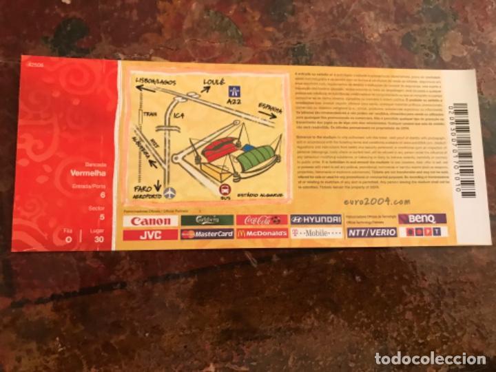 Coleccionismo deportivo: Entrada Fútbol Uefa Euro 2004 España Rusia. Sin usar - Foto 2 - 186238962