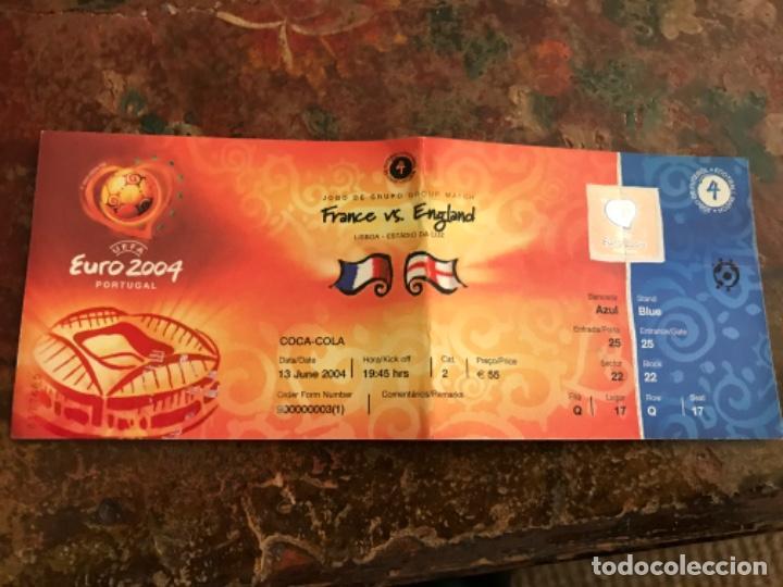 ENTRADA FÚTBOL UEFA EURO 2004 FRANCIA INGLATERRA. SIN USAR (Coleccionismo Deportivo - Documentos de Deportes - Entradas de Fútbol)
