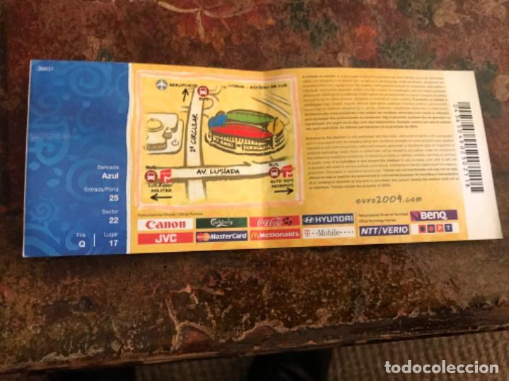 Coleccionismo deportivo: Entrada Fútbol Uefa Euro 2004 Francia Inglaterra. Sin usar - Foto 2 - 186239333