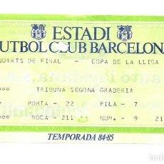 Collectionnisme sportif: COPA LLIGA BARCELONA - REAL MADRID 84-85. Lote 187574938