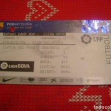 Coleccionismo deportivo: (LLL)-ENTRADA CAMP NOU TEMPORADA 11/12 PALCO(LLOTJA)- F.C.BARCELONA-RAYO VALLECANO.. Lote 190535980