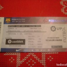 Coleccionismo deportivo: (LLL)-ENTRADA CAMP NOU TEMPORADA 14-15 TRIBUNA- F.C.BARCELONA-AT.MADRID . Lote 190569231