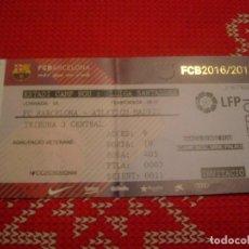 Coleccionismo deportivo: (LLL)-ENTRADA CAMP NOU TEMPORADA 16-17 TRIBUNA- F.C.BARCELONA-AT.MADRID . Lote 190569266