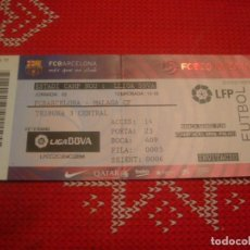 Coleccionismo deportivo: (LLL)-ENTRADA TRIBUNA CAMP NOU 2015-16 LIGA 1ª DIV.-F.C.BARCELONA-MÁLAGA. Lote 190689180