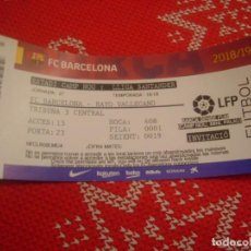 Coleccionismo deportivo: (LLL)-ENTRADA TRIBUNA CAMP NOU 2018-19 LIGA 1ª DIV.-F.C.BARCELONA-RAYO VALLECANO. Lote 190992862