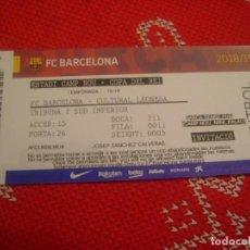Coleccionismo deportivo: (LLL)-ENTRADA TRIBUNA CAMP NOU 2018-19 COPA DEL REY-F.C.BARCELONA-CULTURAL LEONESA. Lote 190993686