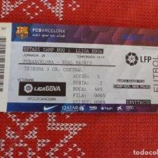 Coleccionismo deportivo: (LLL)-ENTRADA CAMP NOU TRIBUNA LIGA TEMP. 2014-15-F.C.BARCELONA-REAL MADRID. Lote 191242756