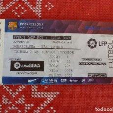 Coleccionismo deportivo: (LLL)-ENTRADA CAMP NOU TRIBUNA LIGA TEMP. 2014-15-F.C.BARCELONA-REAL MADRID. Lote 191242783