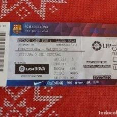 Coleccionismo deportivo: (LLL)-ENTRADA CAMP NOU TRIBUNA LIGA TEMP. 2014-15-F.C.BARCELONA-VALENCIA. Lote 191242833