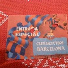 Coleccionismo deportivo: (LLL)-ENTRADA ESPECIAL CLUB DE FUTBOL BARCELONA(TEMPORADA 1954-1955)CAMPO DE LES CORTS. Lote 191296141