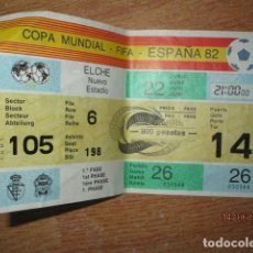 Coleccionismo deportivo: ENTRADA FUTBOL COPA MUNDIAL FIFA ESPAÑA 82 EN ELCHE ALICANTE Nº 198 - 1ª FASE NUEVO ESTADIO. Lote 193022231