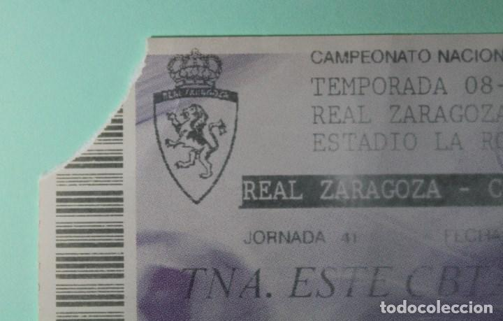 Coleccionismo deportivo: ENTRADA FUTBOL. LA ROMAREDA. REAL ZARAGOZA - CORDOBA. 13 JUNIO 2009. LFP LIGA ADELANTE. - Foto 2 - 193191370