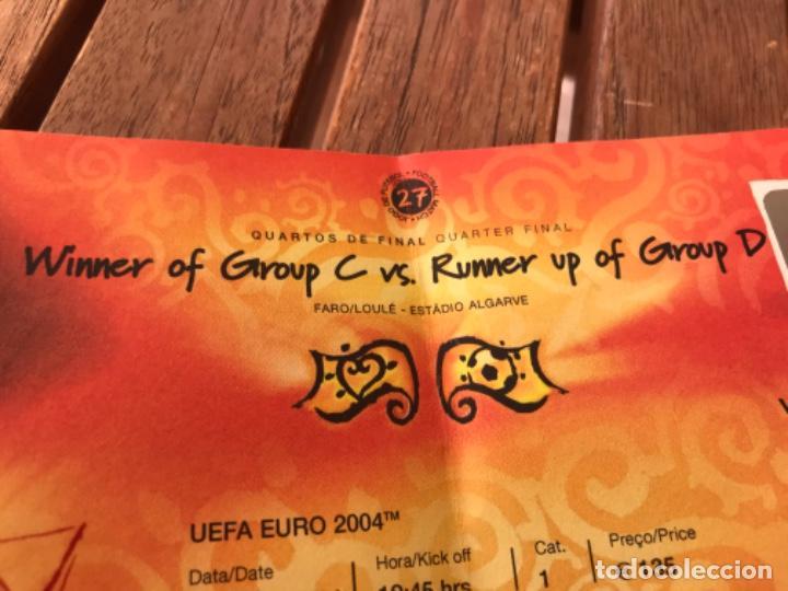 Coleccionismo deportivo: Entrada VIP Uefa Euro 2004 Suecia Holanda 26 de Junio de 2004. Jogo 27. Quarter Final. - Foto 2 - 194211185