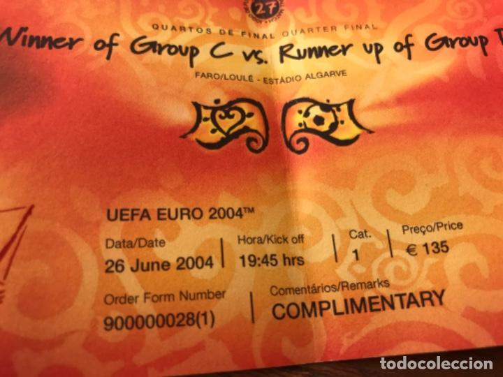 Coleccionismo deportivo: Entrada VIP Uefa Euro 2004 Suecia Holanda 26 de Junio de 2004. Jogo 27. Quarter Final. - Foto 3 - 194211185