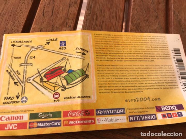 Coleccionismo deportivo: Entrada VIP Uefa Euro 2004 Suecia Holanda 26 de Junio de 2004. Jogo 27. Quarter Final. - Foto 5 - 194211185