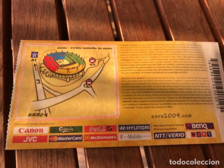 Coleccionismo deportivo: Entrada Tribuna de Honor Uefa Euro 2004 Holanda Chequia 19 de Junio de 2004. Jogo 16.Group Match - Foto 2 - 194214002