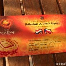 Coleccionismo deportivo: ENTRADA TRIBUNA DE HONOR UEFA EURO 2004 HOLANDA CHEQUIA 19 DE JUNIO DE 2004. JOGO 16.GROUP MATCH. Lote 194214002