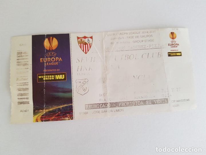 ENTRADA SEVILLA FC - RIJEKA (UEFA EUROPA LEAGUE) 2014/2015 (Coleccionismo Deportivo - Documentos de Deportes - Entradas de Fútbol)