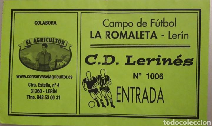 ENTRADA CAMPO DE FÚTBOL LA ROMALETA (Coleccionismo Deportivo - Documentos de Deportes - Entradas de Fútbol)