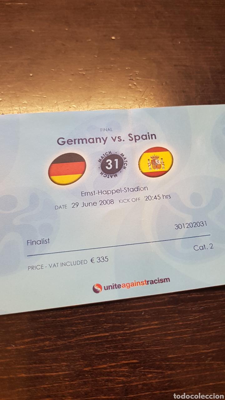 Coleccionismo deportivo: Entrada final Eurocopa 2008 - Foto 2 - 194731668
