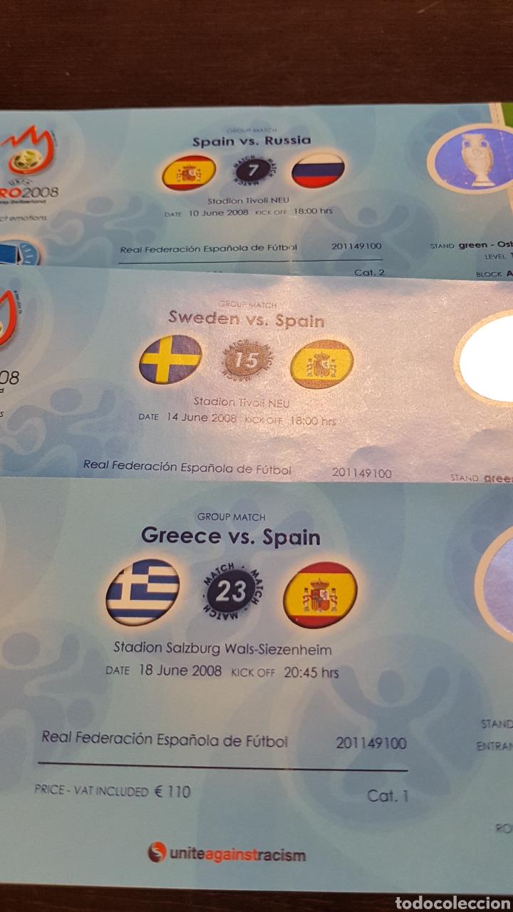 Coleccionismo deportivo: Entradas Eurocopa 2008 todos los partidos de España - Foto 2 - 194731962