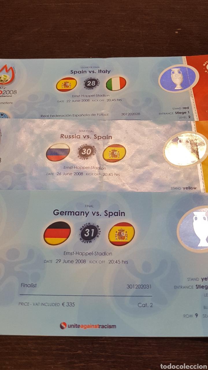 Coleccionismo deportivo: Entradas Eurocopa 2008 todos los partidos de España - Foto 3 - 194731962