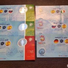 Coleccionismo deportivo: ENTRADAS EUROCOPA 2008 TODOS LOS PARTIDOS DE ESPAÑA. Lote 194731962
