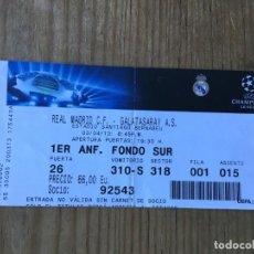 Coleccionismo deportivo: ENTRADA TICKET FUTBOL REAL MADRID GALATASARAY UEFA CHAMPIONS LEAGUE 2012 2013. Lote 195001503