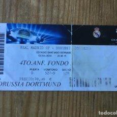 Coleccionismo deportivo: ENTRADA TICKET FUTBOL REAL MADRID BORUSSIA DORTMUND UEFA CHAMPIONS LEAGUE 2013 2014. Lote 195001817
