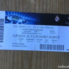 Coleccionismo deportivo: ENTRADA TICKET FUTBOL REAL MADRID BAYERN MUNCHEN BAYER MUNICH UEFA CHAMPIONS 2013 2014. Lote 195002480