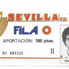 Coleccionismo deportivo: ENTRADA ANTIGUA SEVILLA F.C. FRANCISCO JAVIER LÓPEZ ALFARO OSUNA (SEVILLA) 1- 11- 62. Lote 195140268