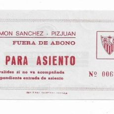 Coleccionismo deportivo: ENTRADA ANTIGUA ESTADIO RAMÓN SÁNCHEZ PIZJUAN SEVILLA F.C.. Lote 195140911