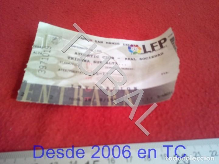 TUBAL ATHLETIC BILBAO ENTRADA LIGA 18 8 1996 REAL SOCIEDAD 6 1 B49 (Coleccionismo Deportivo - Documentos de Deportes - Entradas de Fútbol)